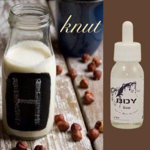Knut, e-liquide café noisette, nuage de crème sucrée, premium par BDY