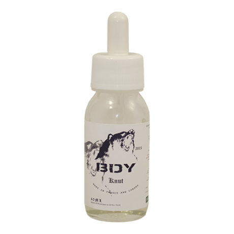 Fiole e-liquide Knut, café noisette, nuage de crème sucrée par BDY