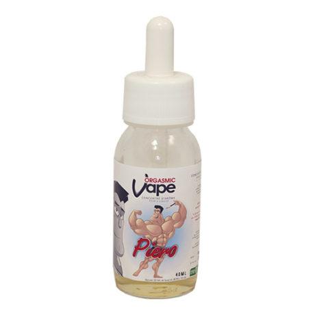 Fiole e-liquide Piero, yaourt à la poire bourbon par Orgasmic Vape