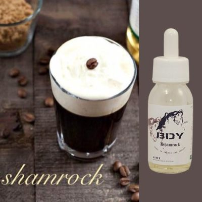 Shamrock, e-liquide irish coffee, café crème de whiskey irlandaise par BDY