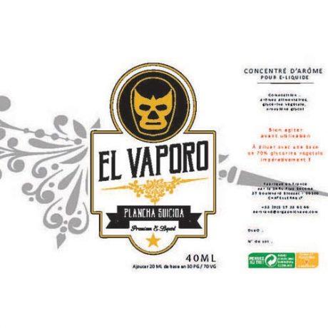 E-liquide Plancha Suicida, classic doux et sucré par des notes de biscuits crackers par EL VAPORO