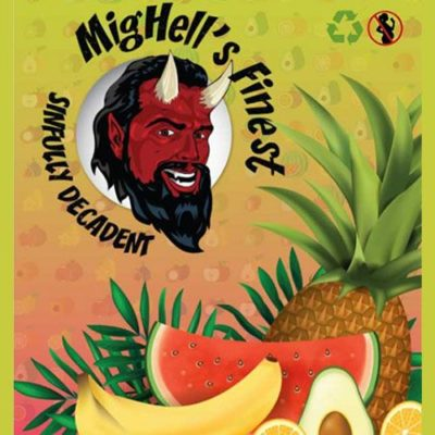 Sinfully Decadent, e-liquide aux fruits tropicaux premium par Mighell's Finest
