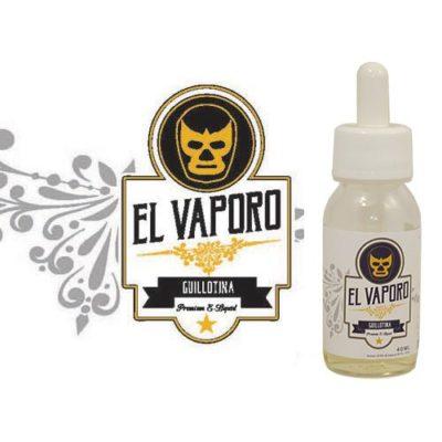 Guillotina, e-liquide banane mûre, sucrée, crémeuse avec des éclats de noix, premium par EL VAPORO