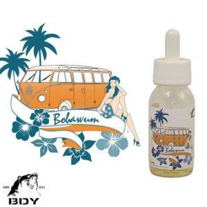 Bobawum, e-liquide baba au rhum, crème de myrtille par BDY